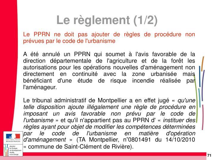 Le PPRN ne doit pas ajouter de règles de procédure non prévues par le code de l'urbanisme