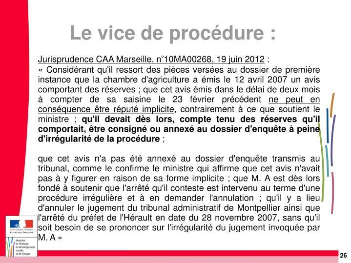 Jurisprudence CAA Marseille, n°10MA00268, 19 juin 2012