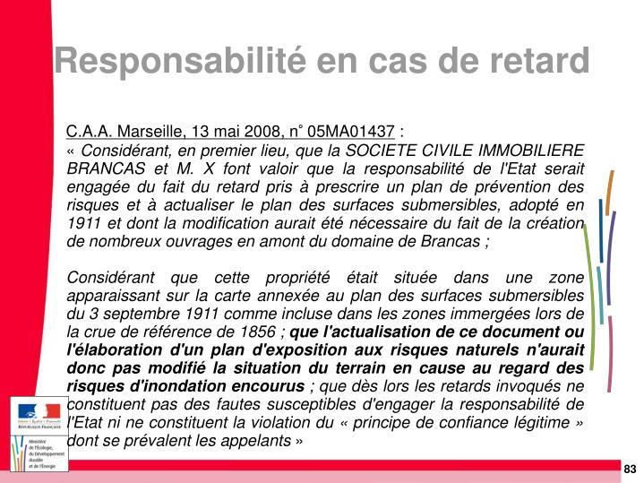 C.A.A. Marseille, 13 mai 2008, n° 05MA01437