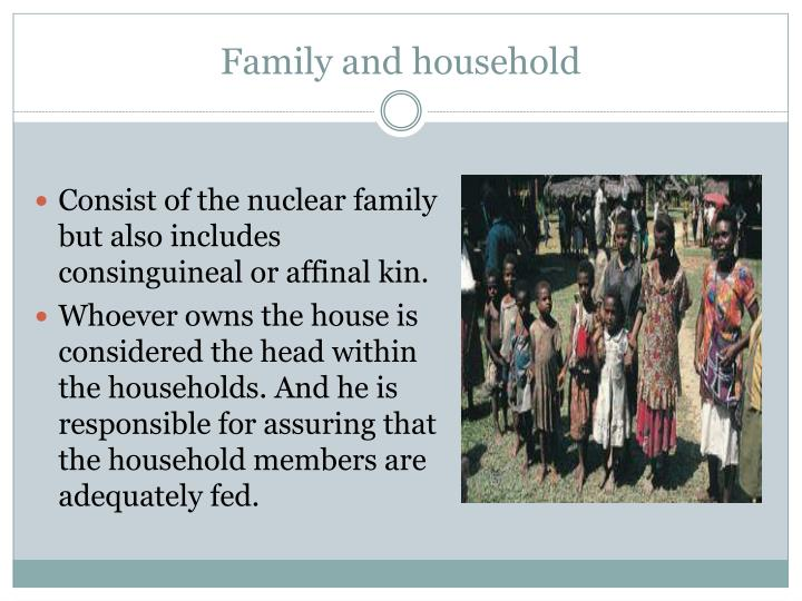 Family and household