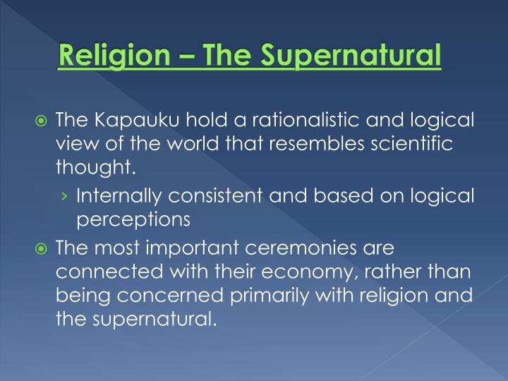 Religion – The Supernatural