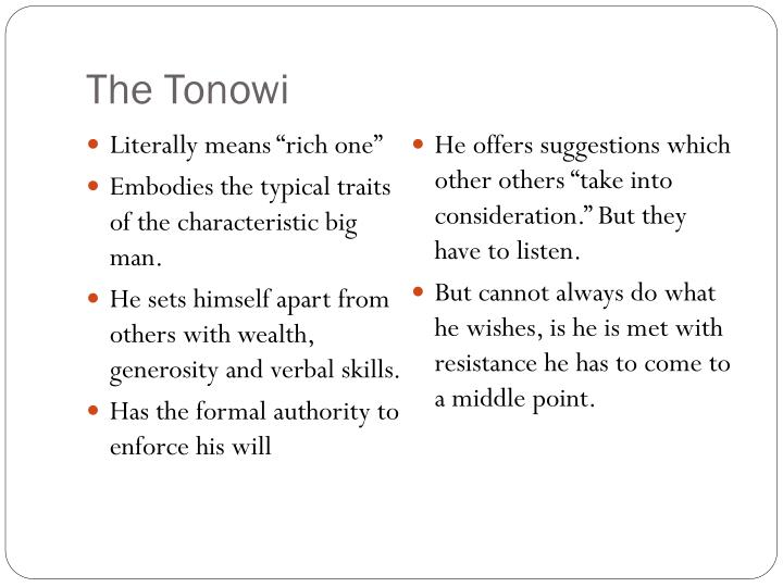 The Tonowi