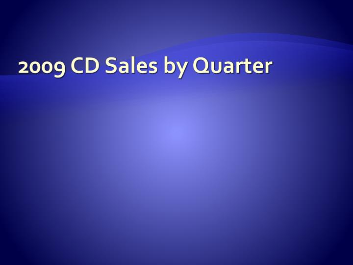 2009 cd sales by quarter