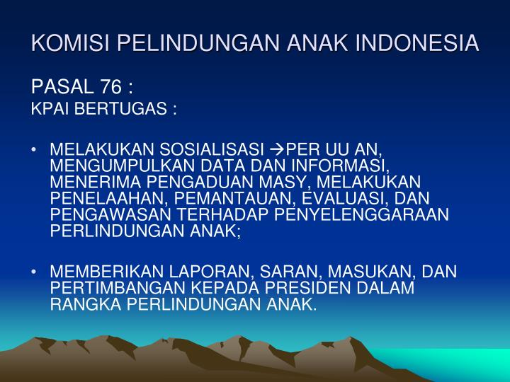 KOMISI PELINDUNGAN ANAK INDONESIA