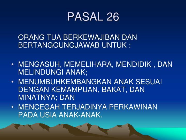 PASAL 26