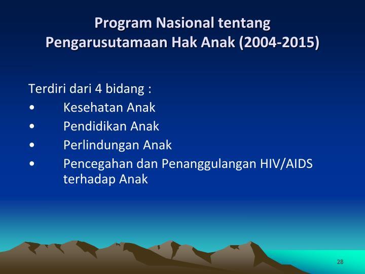 Program Nasional tentang