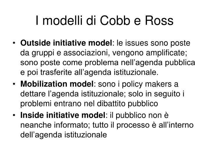 I modelli di Cobb e Ross
