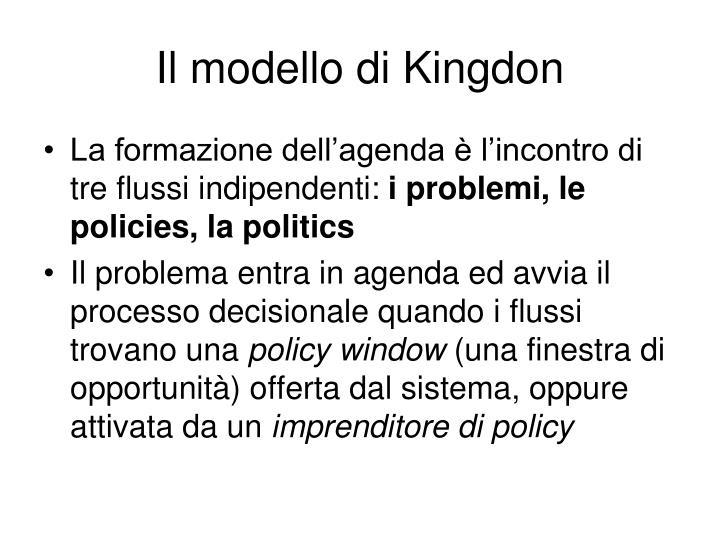 Il modello di Kingdon
