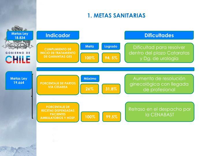 1. METAS SANITARIAS