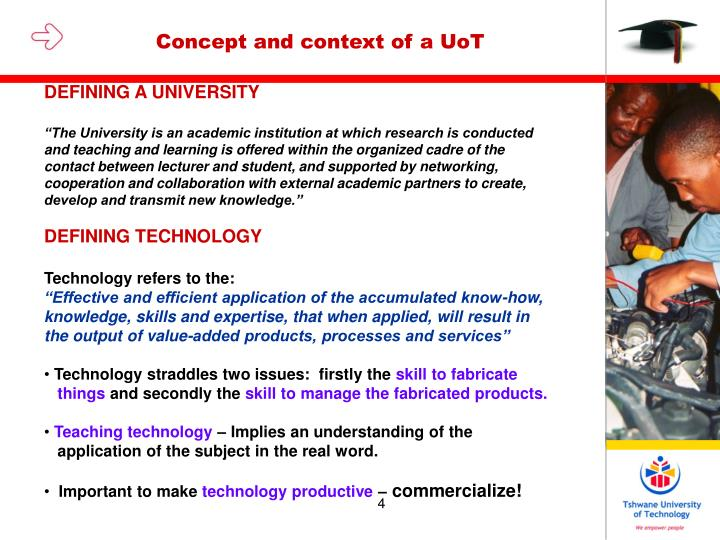 Concept and context of a UoT