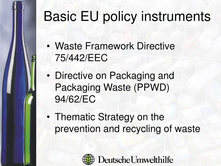 Waste Framework Directive 75/442/EEC