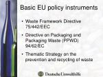 basic eu policy instruments