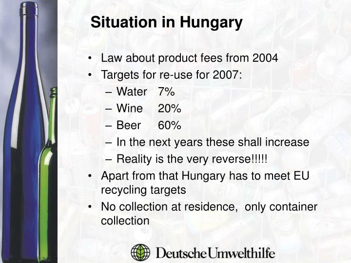 Law about product fees from 2004