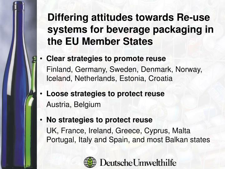 Differing attitudes towards Re-use systems for beverage packaging in the EU Member States
