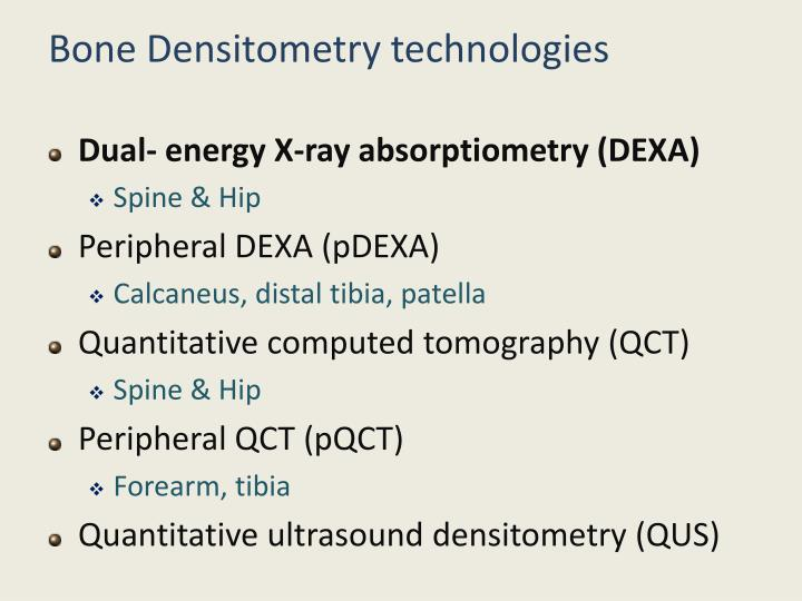Bone Densitometry technologies