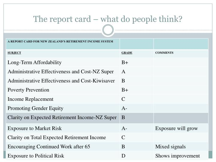 The report card – what do people think?