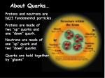 about quarks