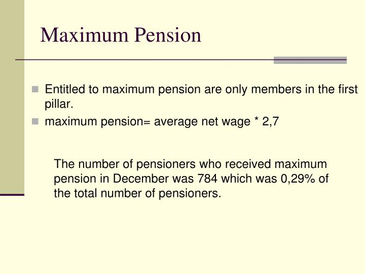 Maximum Pension