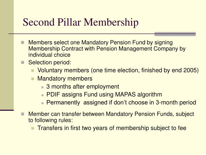 Second Pillar Membership
