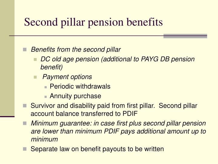 Second pillar pension benefits