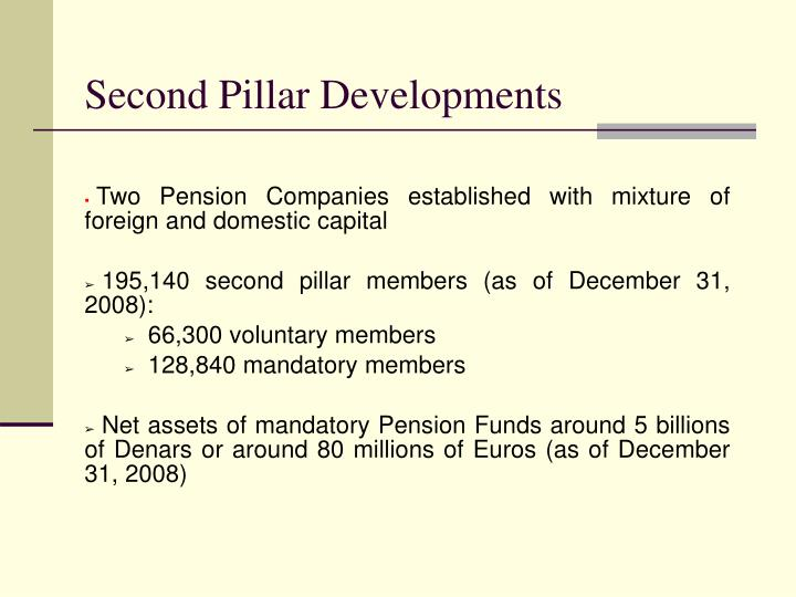 Second Pillar Developments