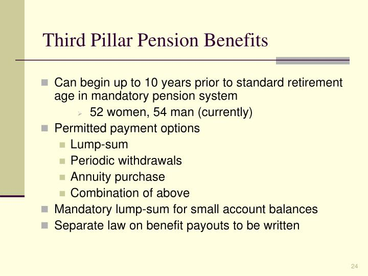 Third Pillar Pension Benefits