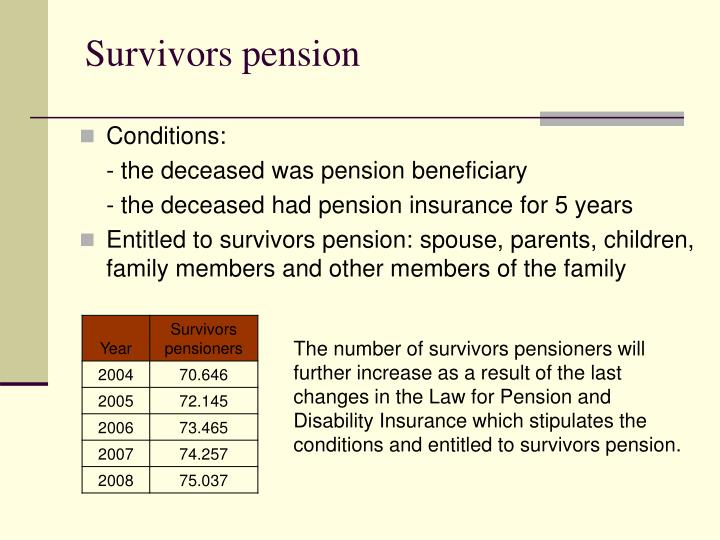 Survivors pension