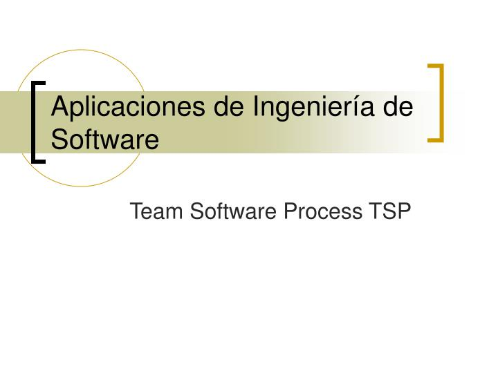 Aplicaciones de ingenier a de software