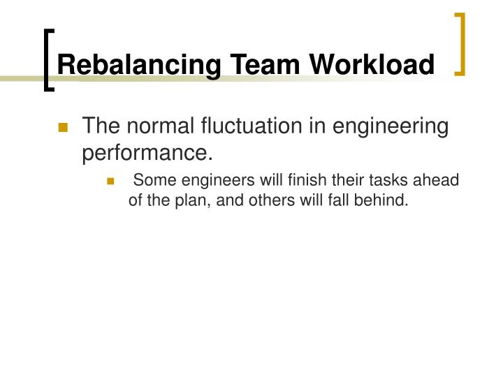 Rebalancing Team Workload