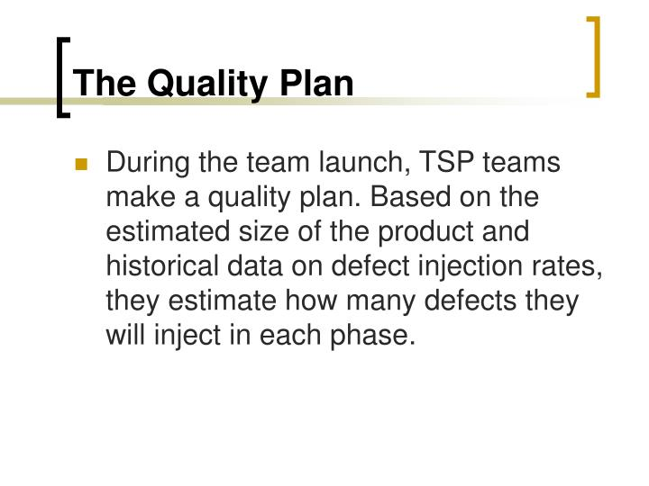 The Quality Plan