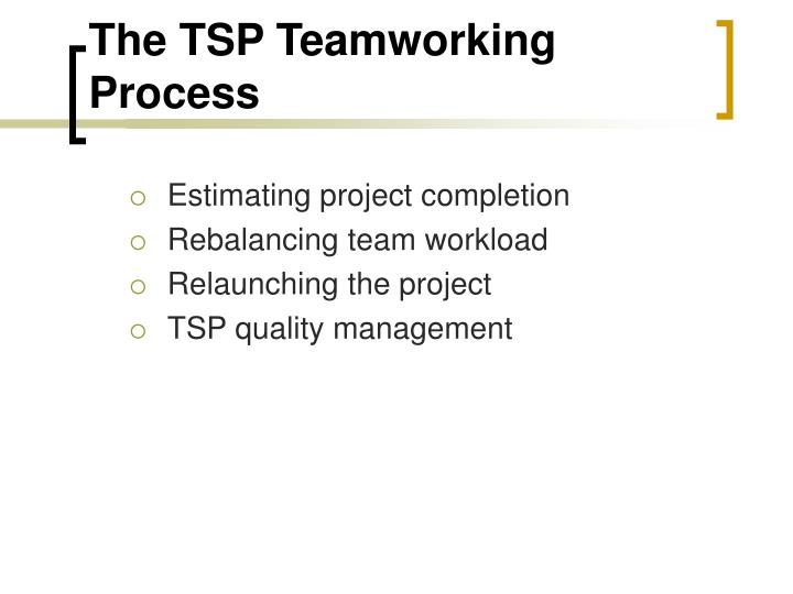 The TSP Teamworking Process
