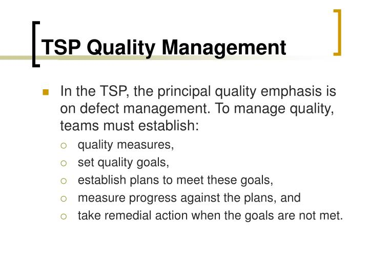 TSP Quality Management
