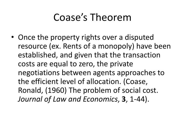 Coase's Theorem