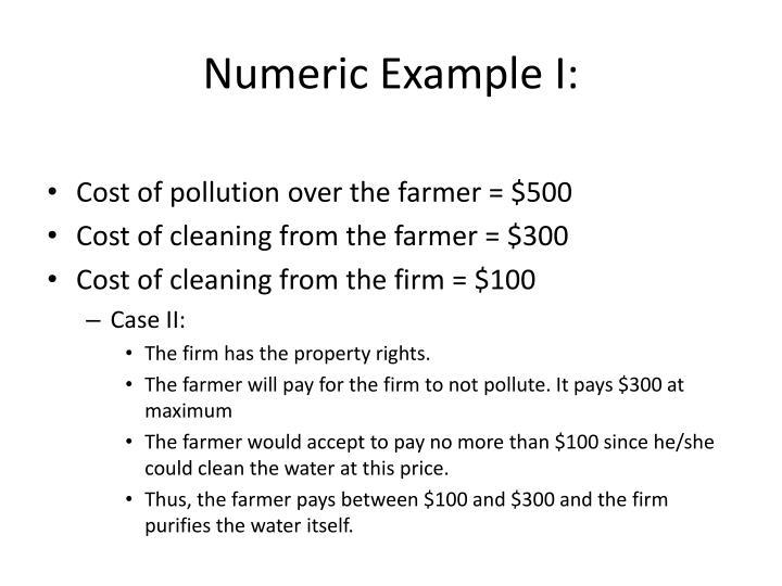 Numeric Example I: