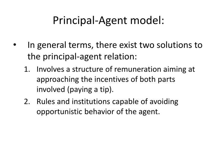 Principal-Agent model:
