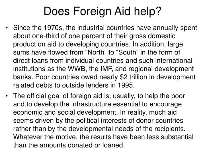 Does Foreign Aid help?