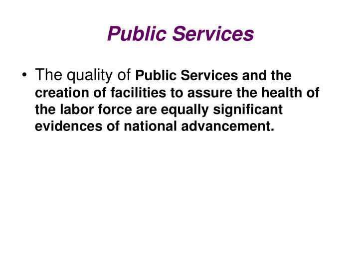 Public Services