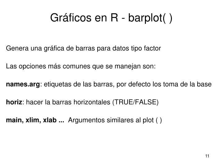 Gráficos en R - barplot( )