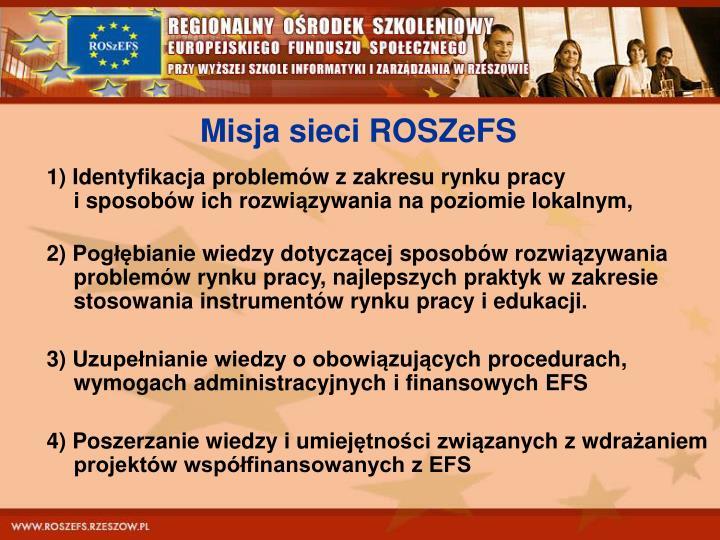 Misja sieci ROSZeFS