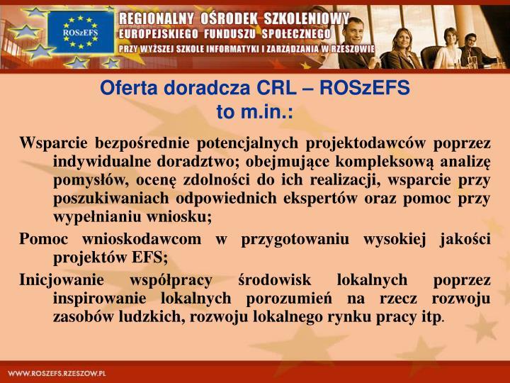 Oferta doradcza CRL – ROSzEFS