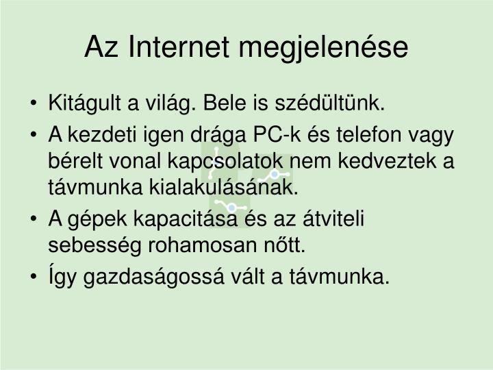 Az Internet megjelenése
