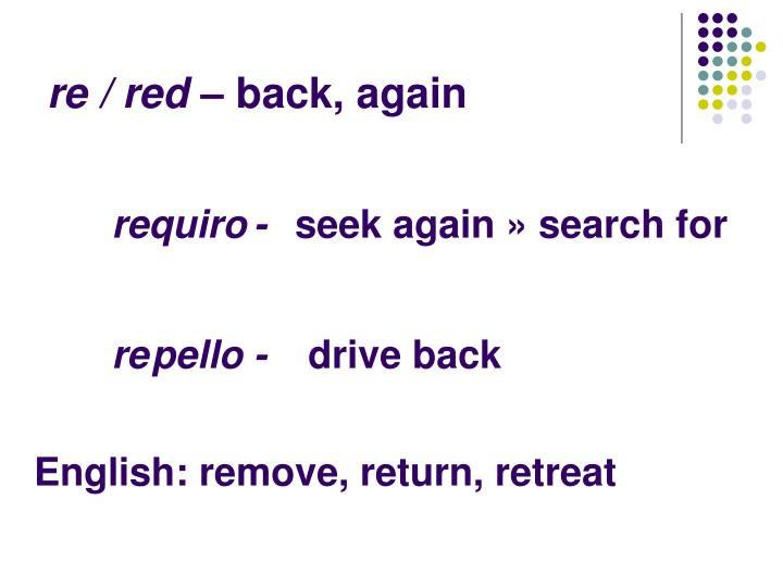 re / red –
