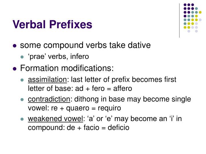 Verbal Prefixes