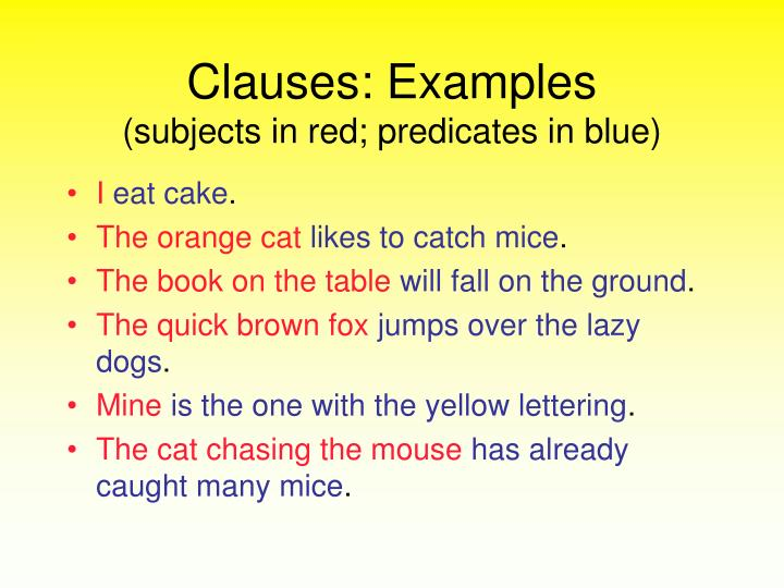 Clauses: Examples