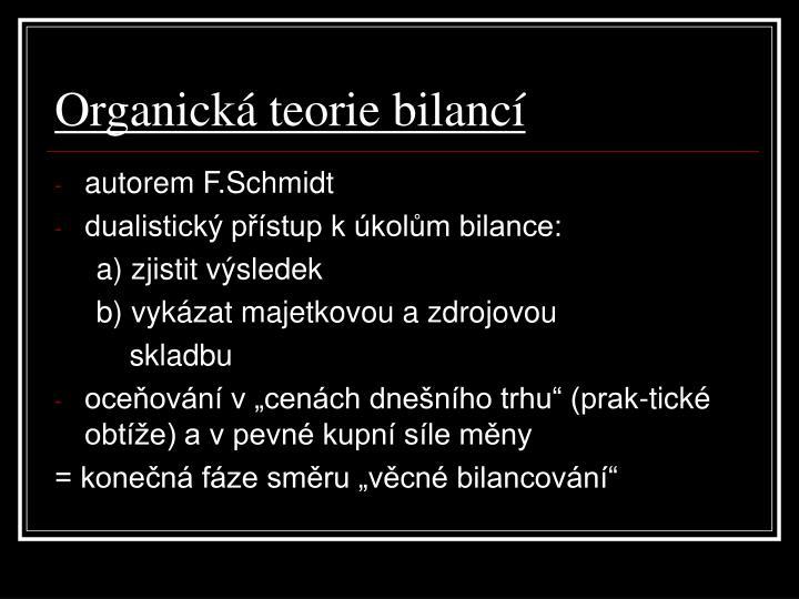 Organická teorie bilancí