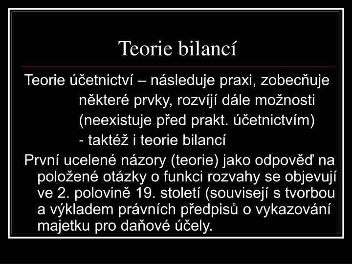 Teorie bilancí