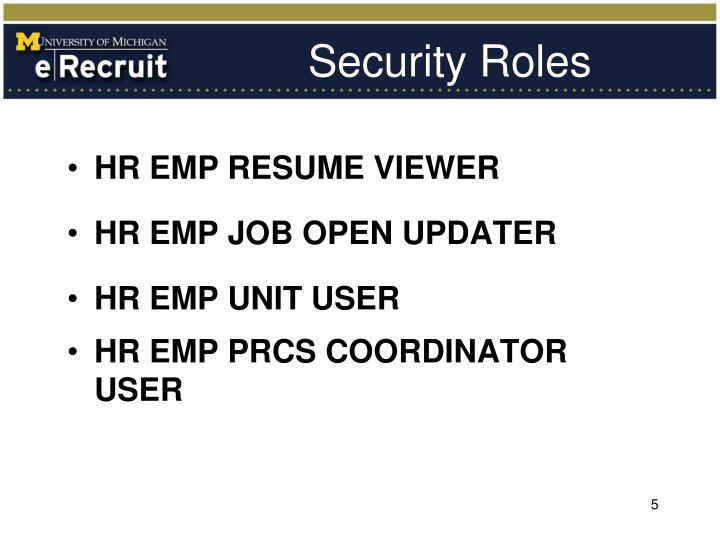 Security Roles