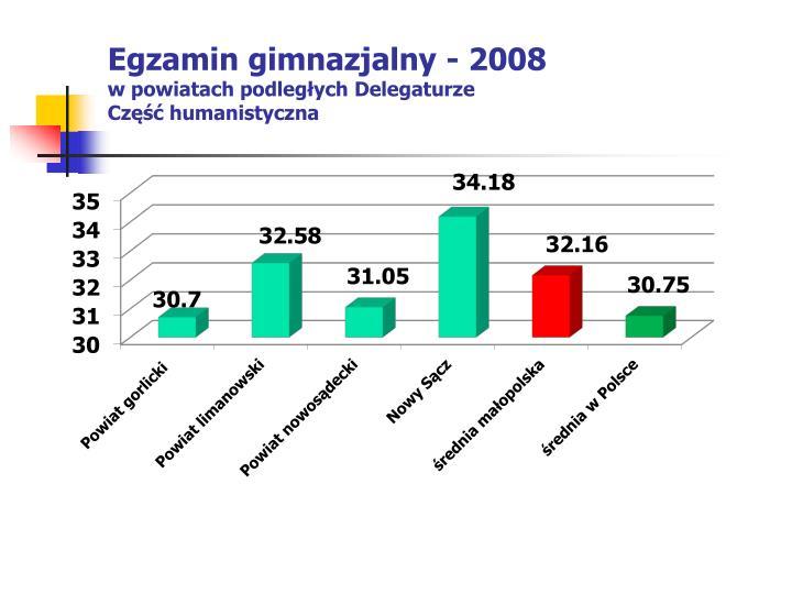 Egzamin gimnazjalny - 2008