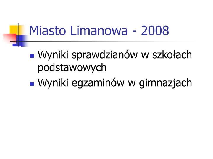 Miasto Limanowa - 2008