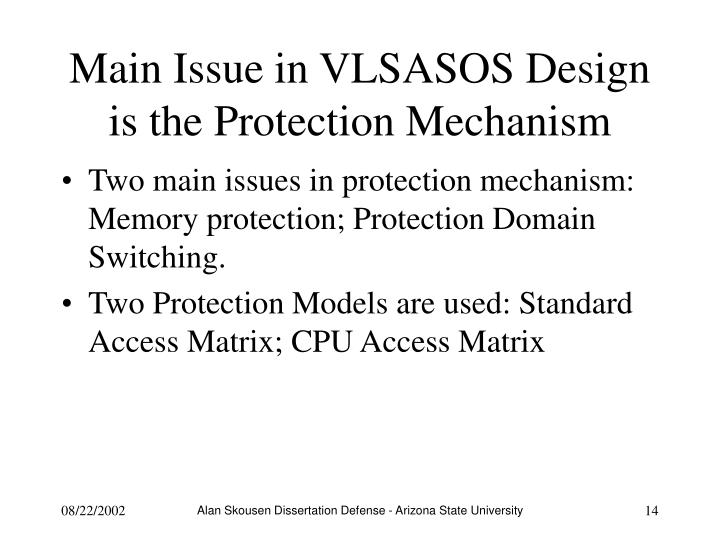 Main Issue in VLSASOS Design is the Protection Mechanism